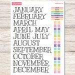 Free Printable Sticker Set For Your Planner Or Bullet Journal   Free Printable Months Of The Year Labels