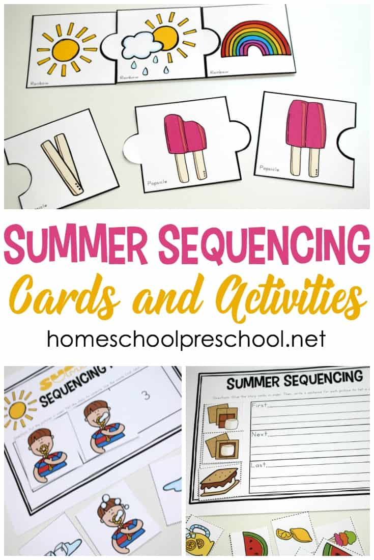 Free Printable Summer Sequencing Cards For Preschoolers - Free Printable Sequencing Cards