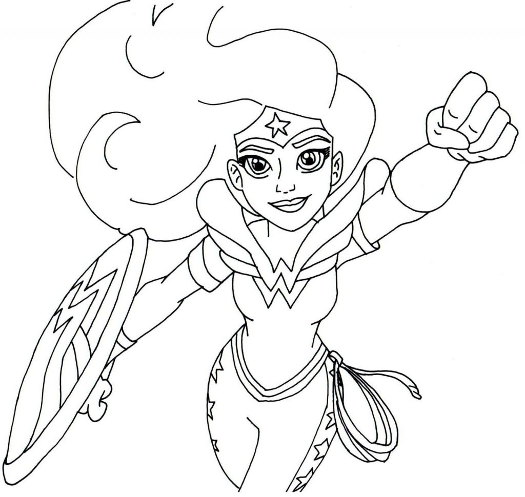 Free Printable Super Hero High Coloring Page For Wonder Woman More - Free Printable Superhero Coloring Pages