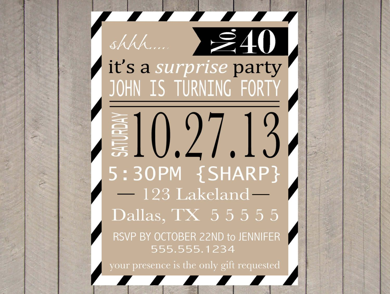 Free Printable Surprise Party Invitation Templates | Invitations - Free Printable Surprise 40Th Birthday Party Invitations