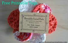 Free Printable Dishcloth Wrappers