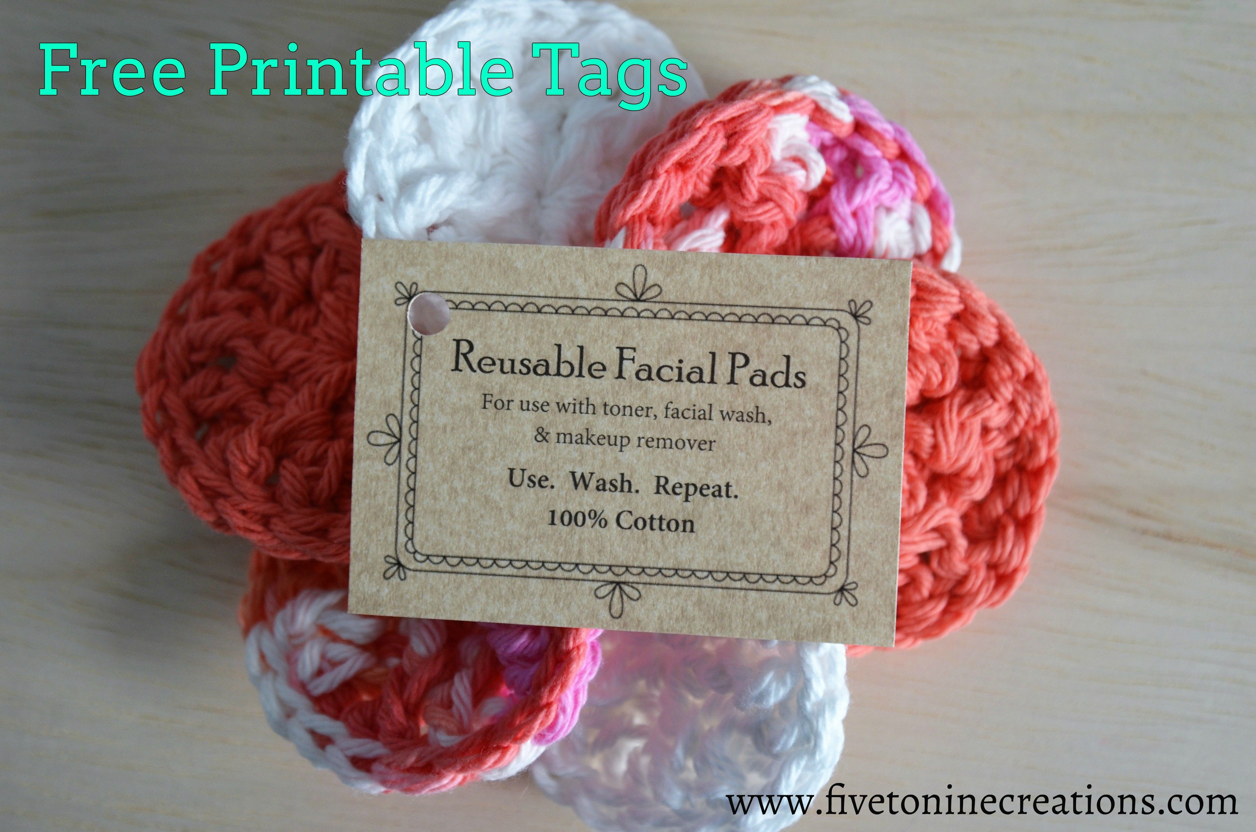 Free Printable Tags For Face Scrubby Pads. Comes With Free Crochet - Free Printable Dishcloth Wrappers