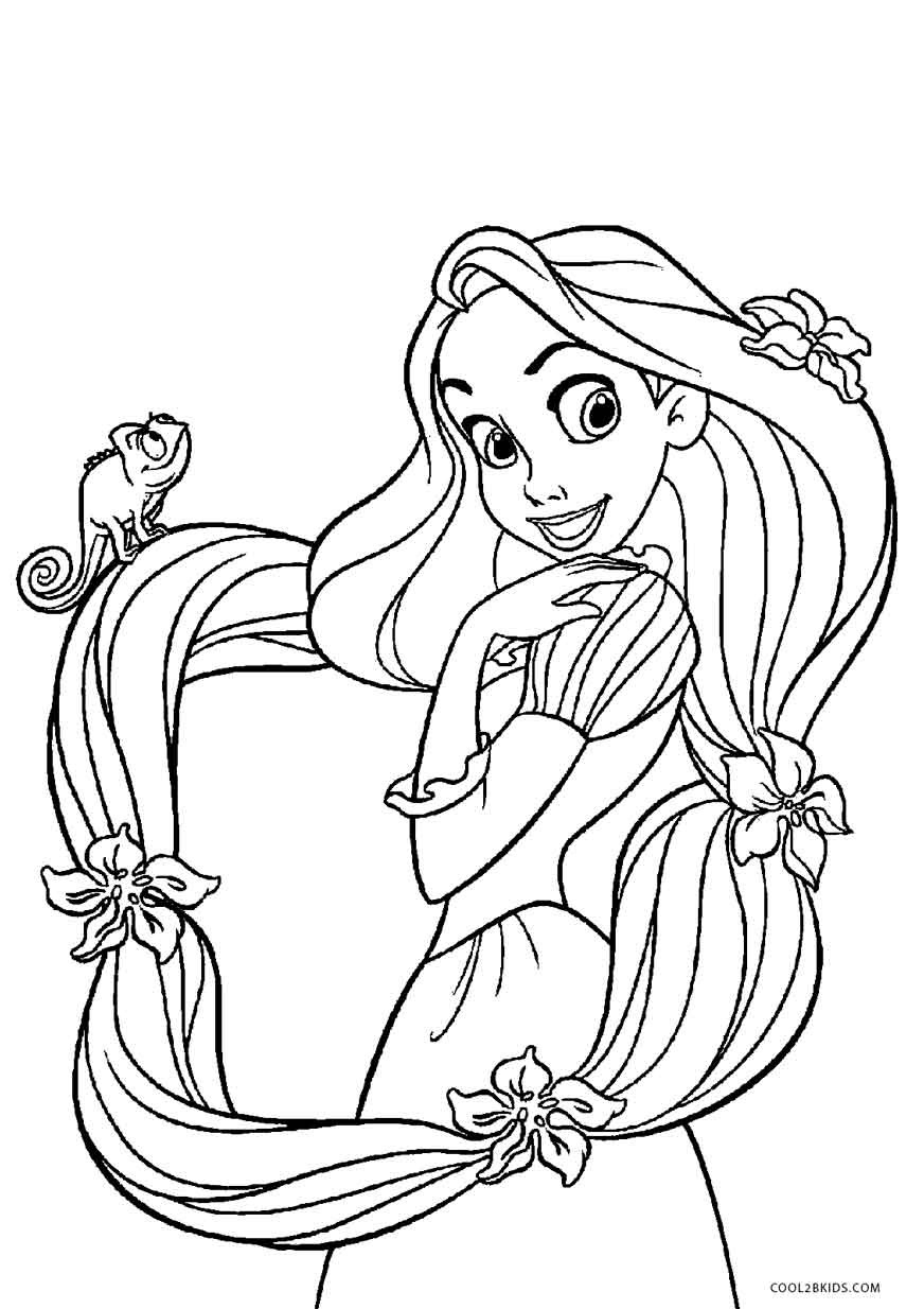 Free Printable Tangled Coloring Pages For Kids Cool2Bkids - Free Printable Tangled