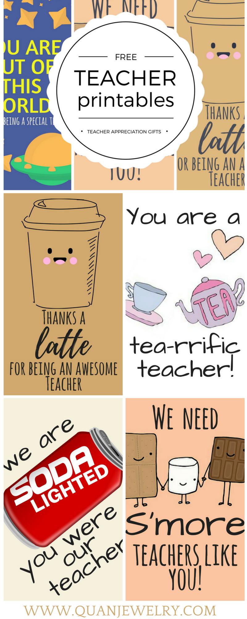 Free Printable Teacher Appreciation Thank You Cards | Teacher Gift - Free Teacher Appreciation Week Printable Cards