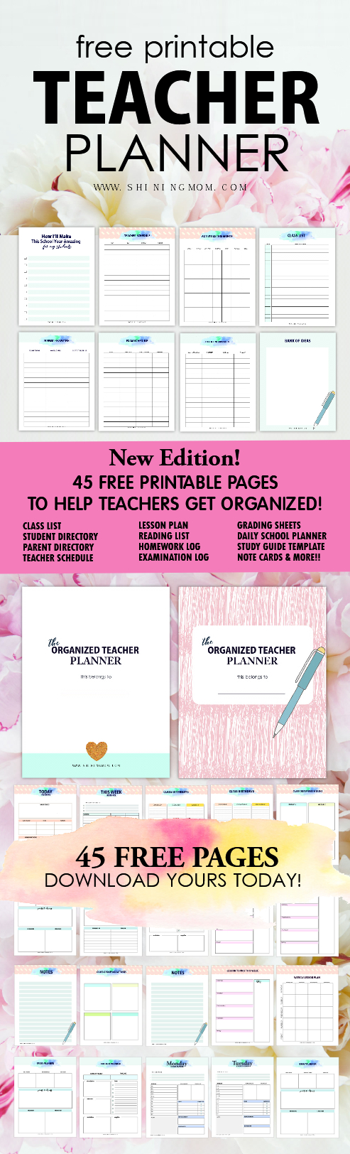 Free Printable Teacher Planner: 45+ School Organizing Templates! - Free Printable Teacher Planner