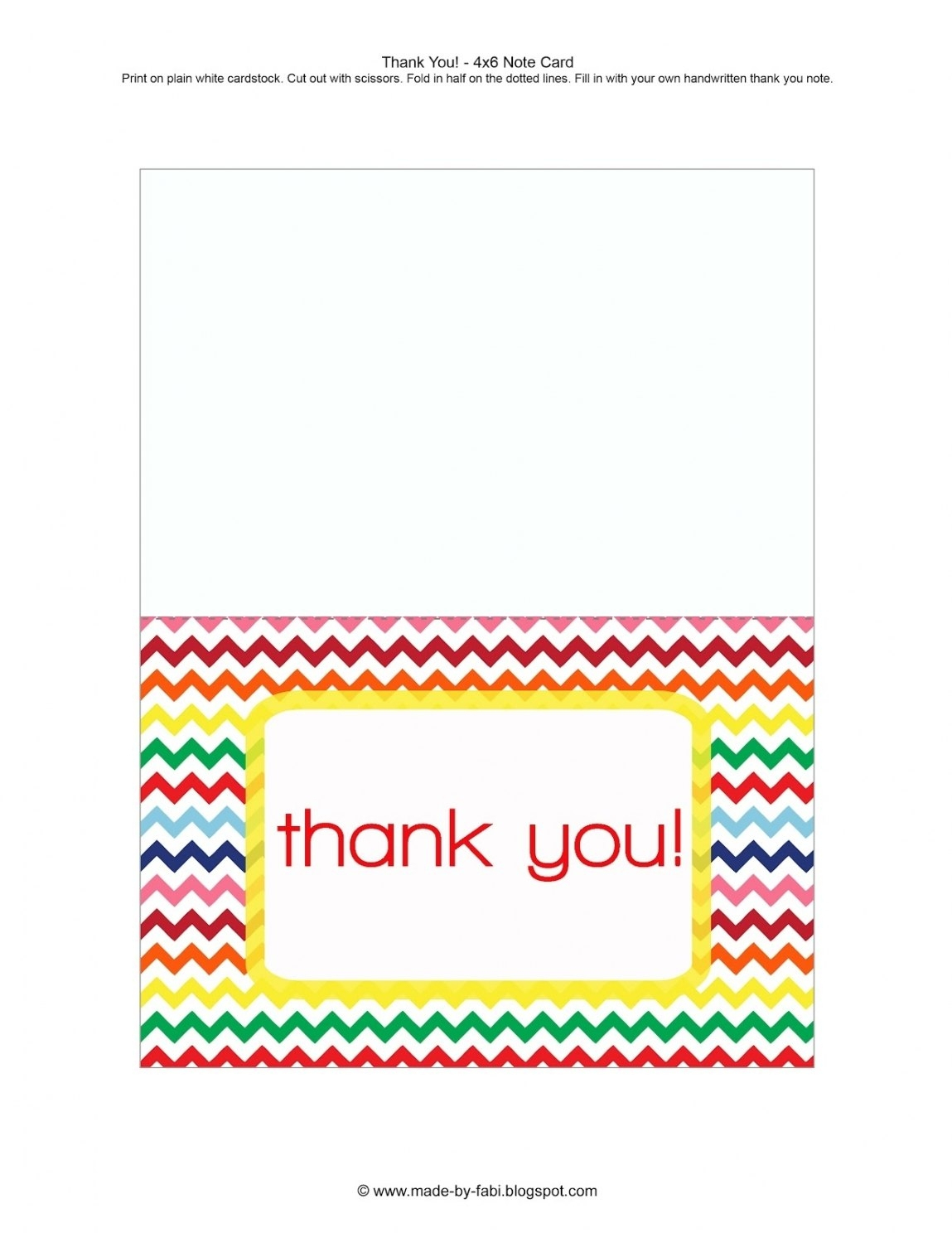 Free Printable Thank You Card Template Word | Penaime - Thank You Card Free Printable Template
