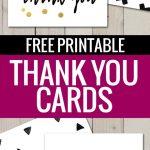 Free Printable Thank You Cards | Freebies | Pinterest | Printable – Free Printable Thank You Notes