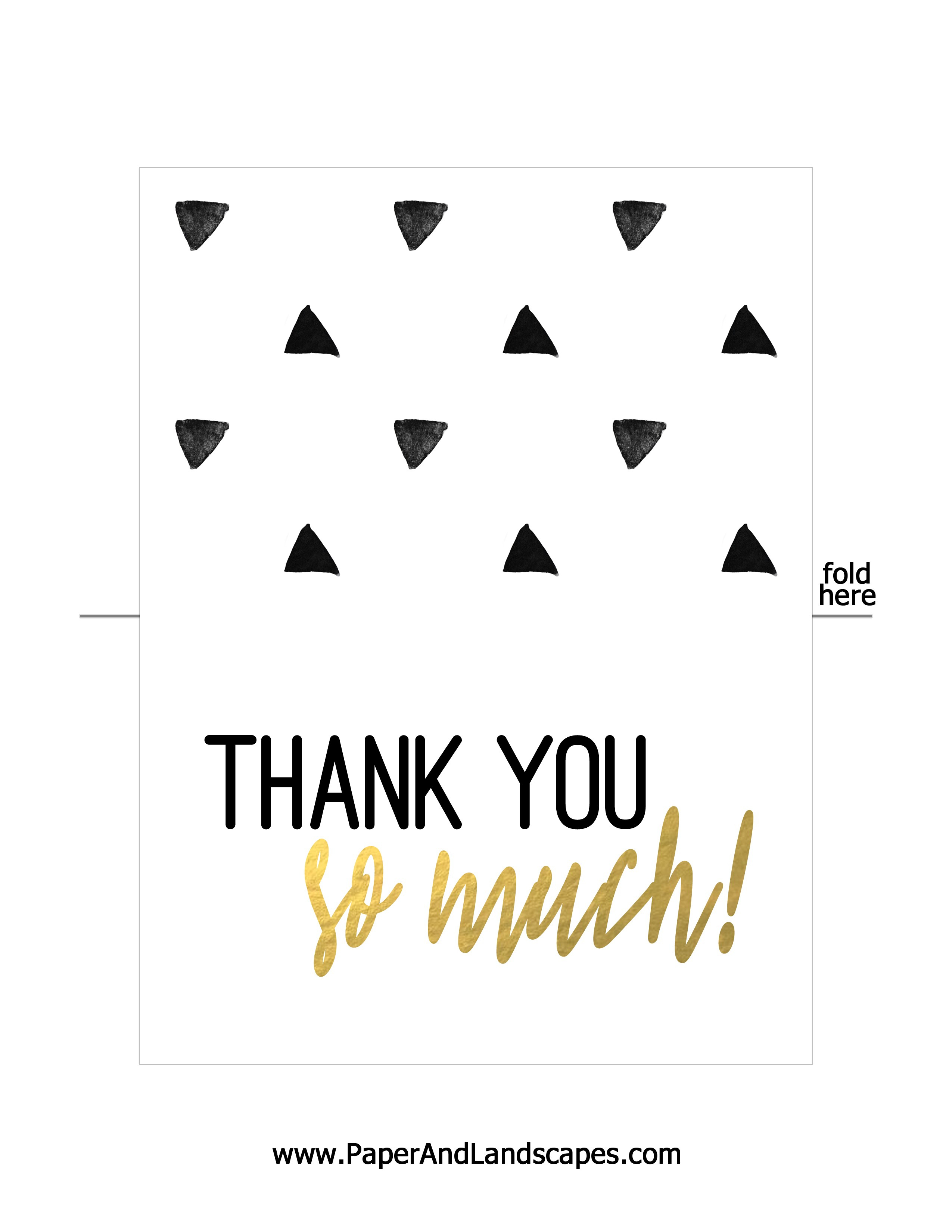 Free Printable Thank You Cards - Paper And Landscapes - Free Printable Thank You Cards