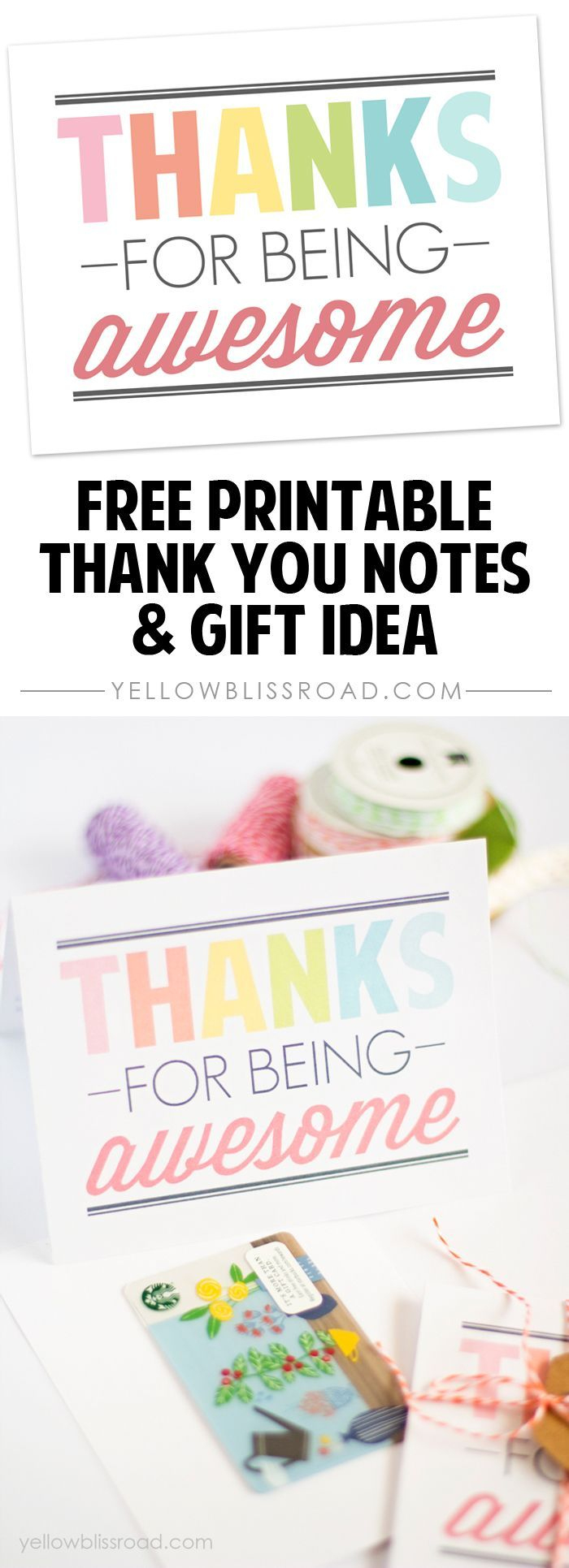 Free Printable Thank You Notes | Best Of Pinterest | Pinterest - Free Printable Volunteer Thank You Cards