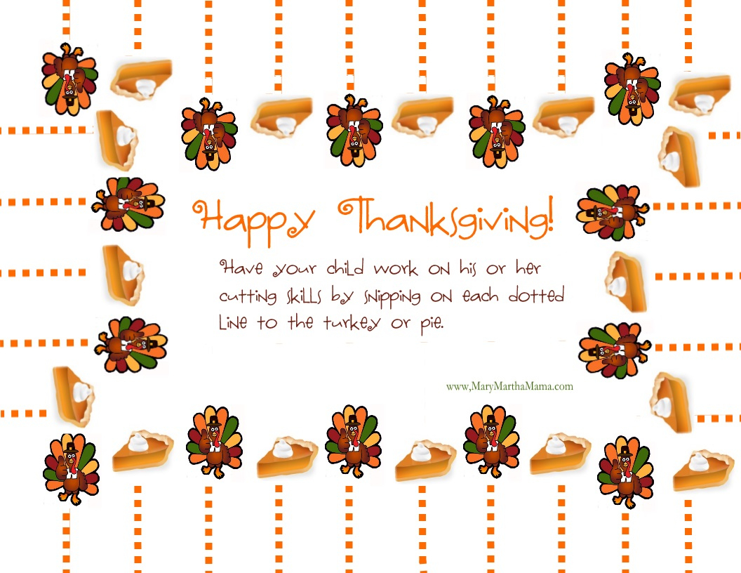 Free Printable Thanksgiving Activities For Kids – Mary Martha Mama - Free Printable Thanksgiving Activities