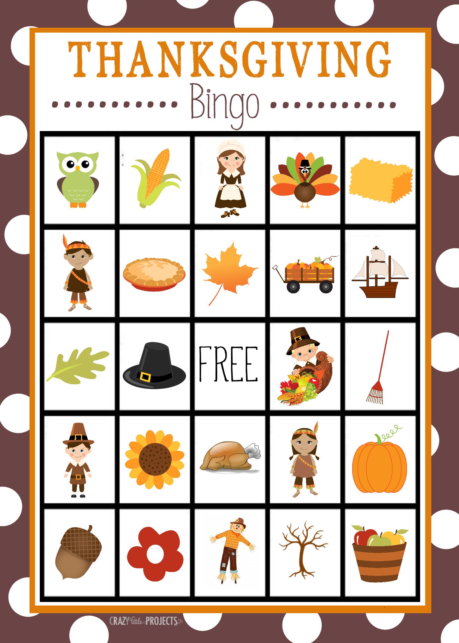 Free Printable Thanksgiving Bingo Game – Fun-Squared - Free Printable Loteria Game