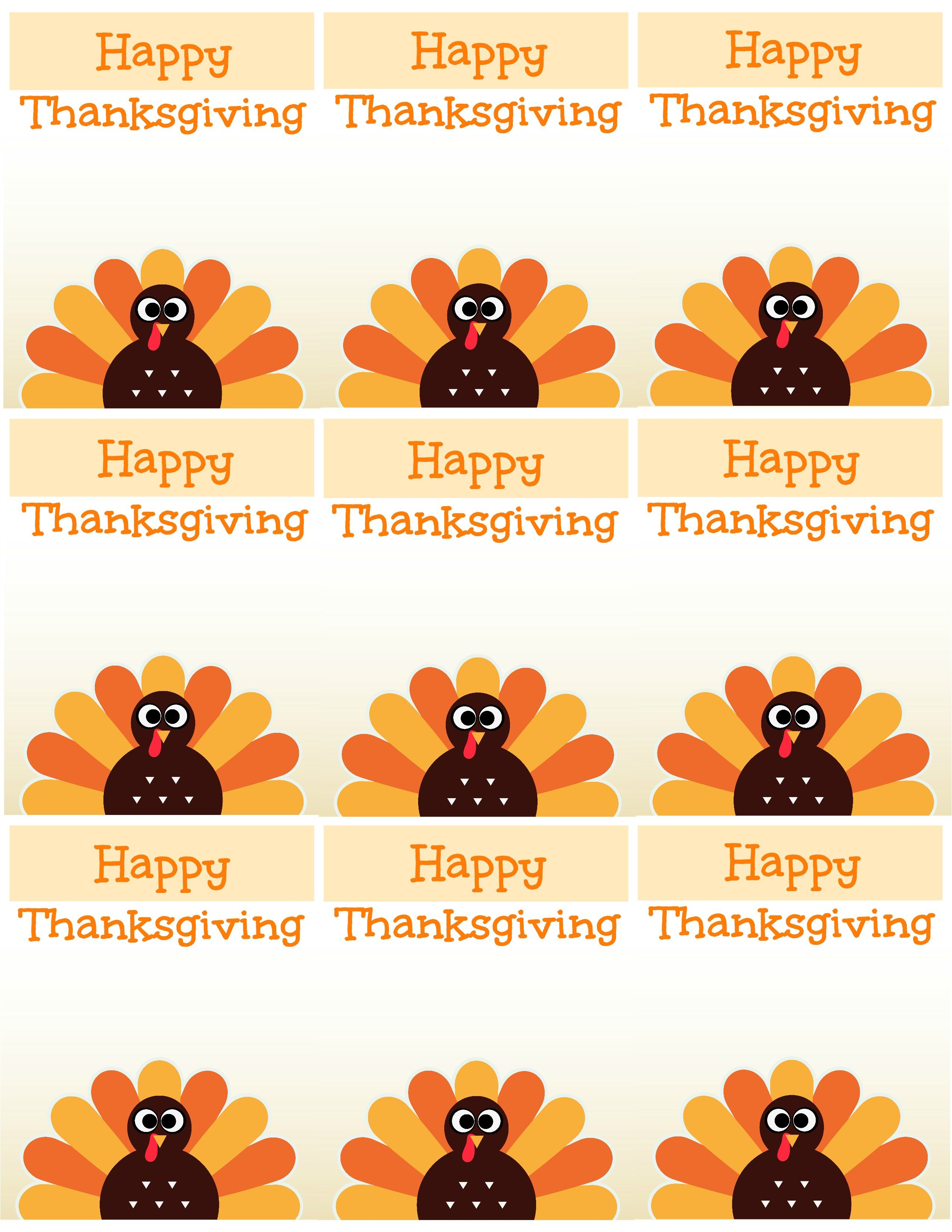 Free Printable Thanksgiving Place Cards -- Also Great For Cupcake - Thanksgiving Cupcake Toppers Printable Free