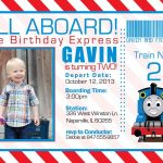 Free Printable The Train Birthday Invitations Ticket Invitation Card   Thomas Invitations Printable Free