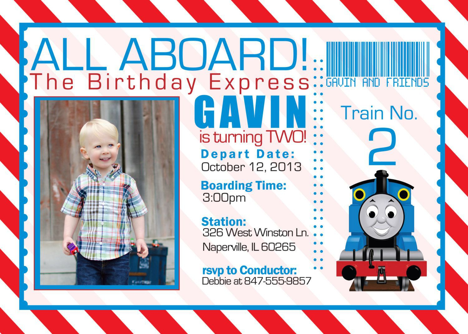 Free Printable The Train Birthday Invitations Ticket Invitation Card - Thomas Invitations Printable Free