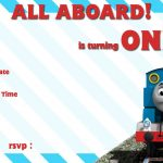 Free Printable Thomas The Train 1St Birthday Invitation | Alex Turns   Thomas Invitations Printable Free