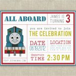 Free Printable Thomas The Train Birthday Invitations 40Th Birthday   Thomas Invitations Printable Free