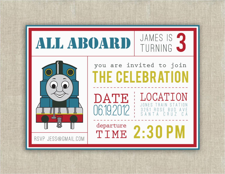 Free Printable Thomas The Train Birthday Invitations 40Th Birthday - Thomas Invitations Printable Free