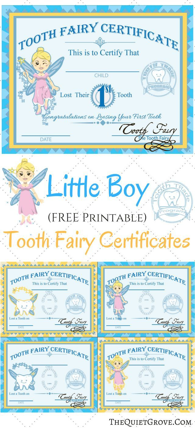Free Printable Tooth Fairy Certificates | Fabnfree // Freebie Group - Tooth Fairy Stationery Free Printable