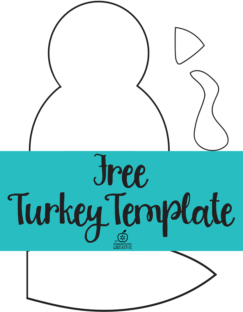 Free Printable Turkey Template. Easy Peasy | Kids Thanksgiving - Free Printable Thanksgiving Turkey Template