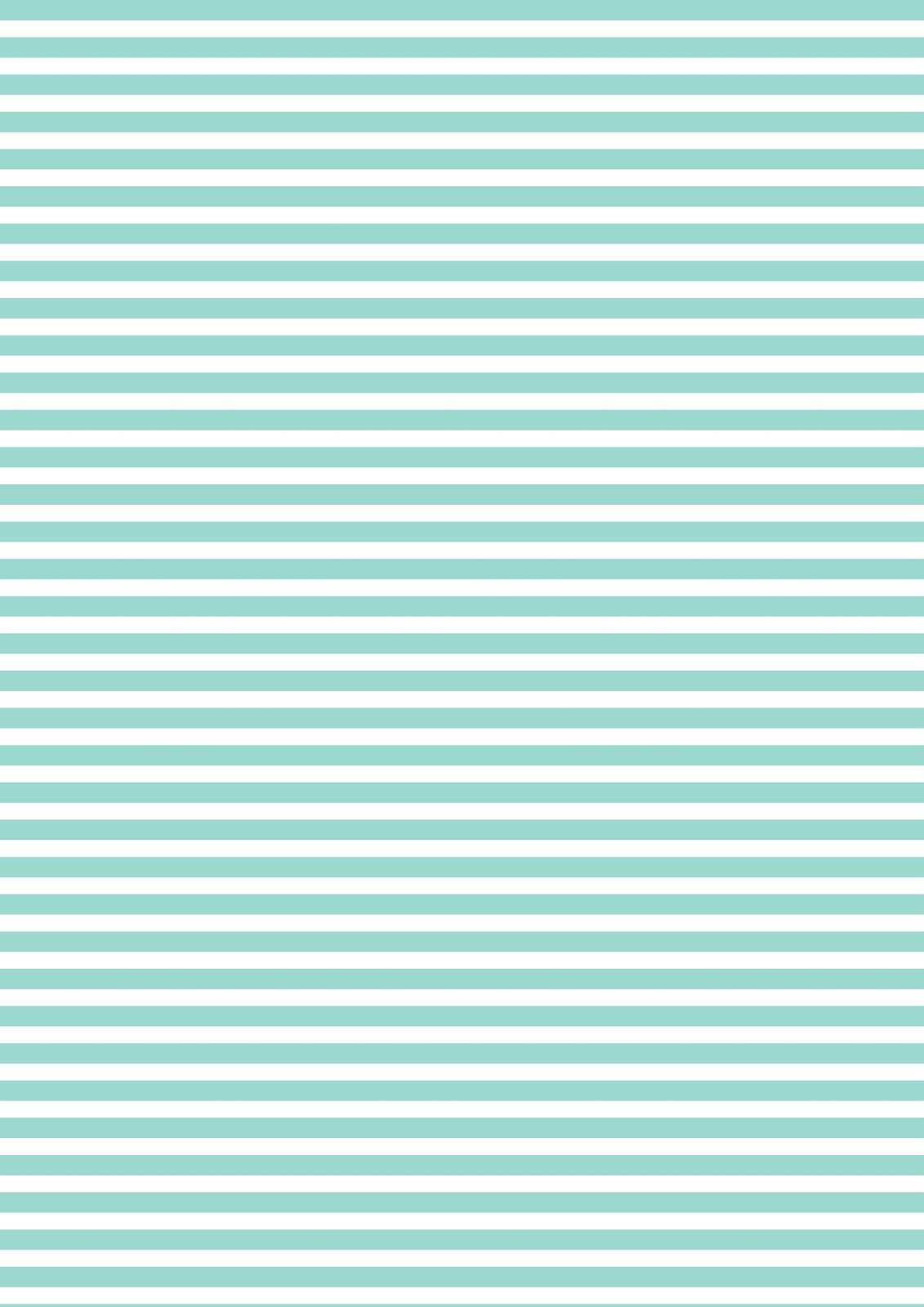 Free Printable Turquoise-White Striped Pattern Paper ^^ | Vert - Free Printable Patterns
