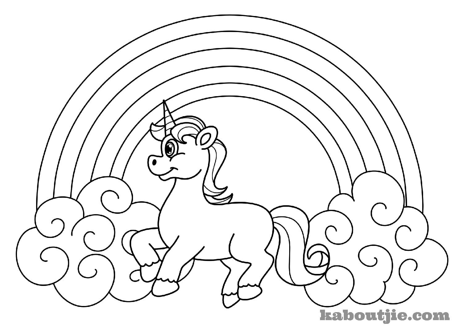 Free-Printable-Unicorn-Coloring-Page | Kaboutjie - Free Printable Unicorn Coloring Pages