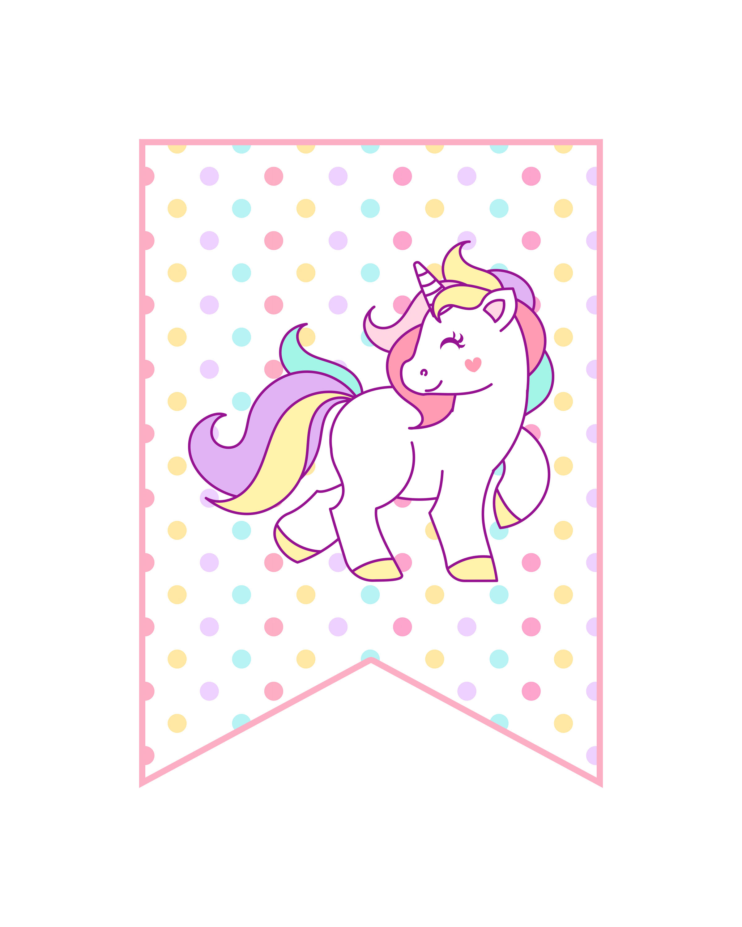 Free Printable Unicorn Party Decorations Pack - The Cottage Market - Free Printable Unicorn Birthday Invitations