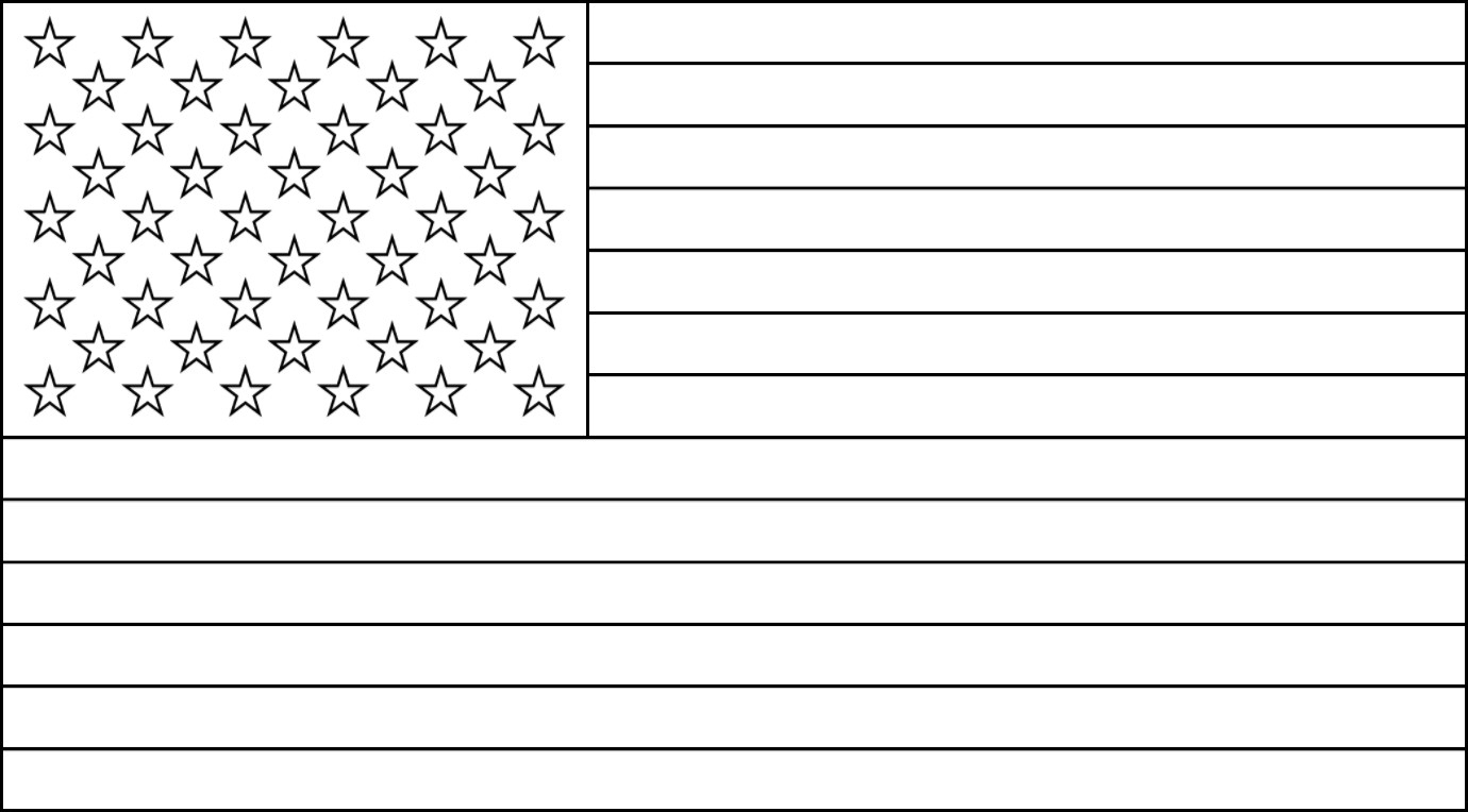 Free Printable Us Flags & American Flag Color Book Pages - Free Printable American Flag Coloring Page