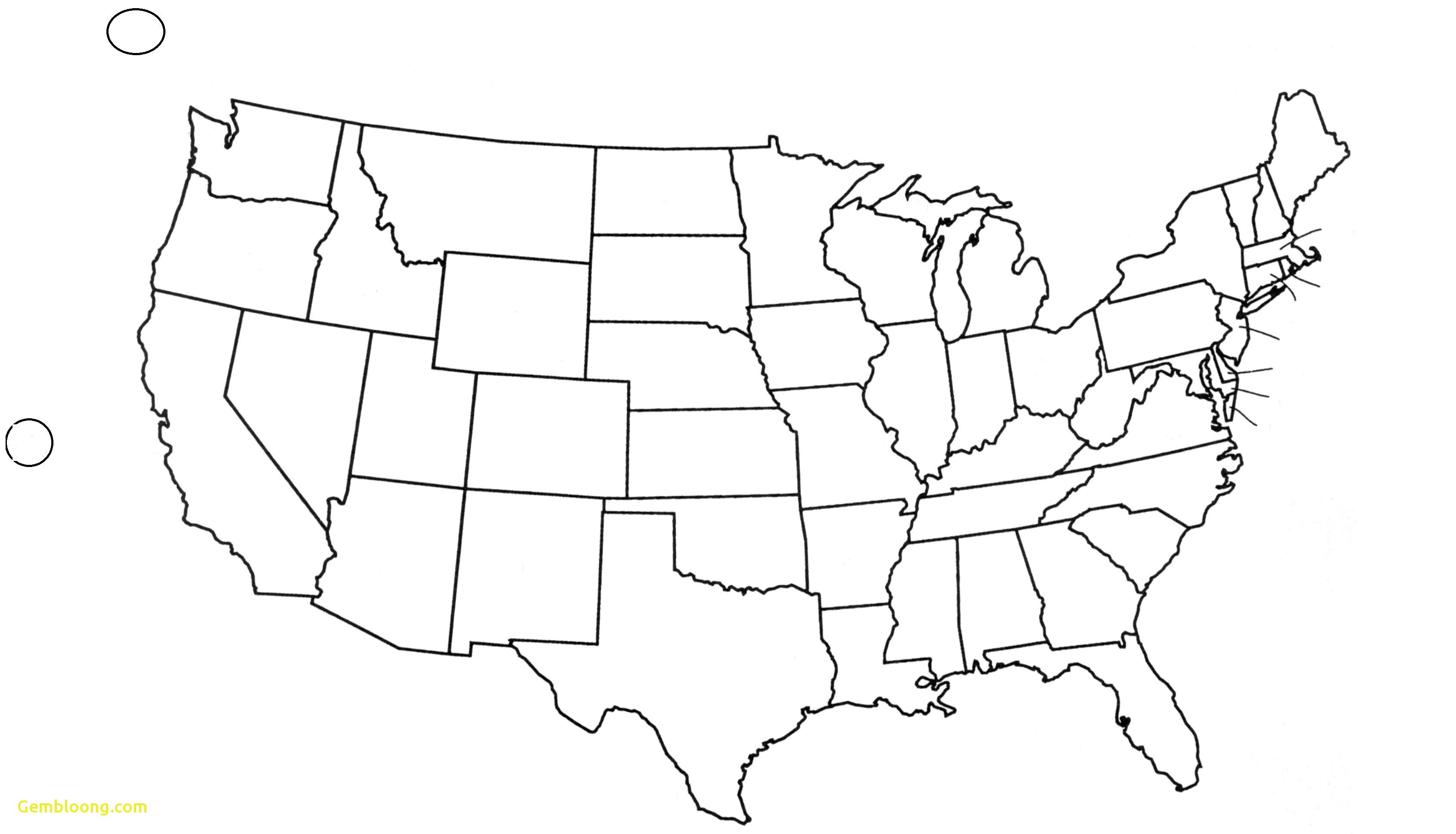 Free Printable Us Map States Labeled Elegant United States Map Blank - Free Printable Labeled Map Of The United States