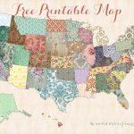 Free Printable Usa Map – Shabby Chic – Free Printable Usa Map