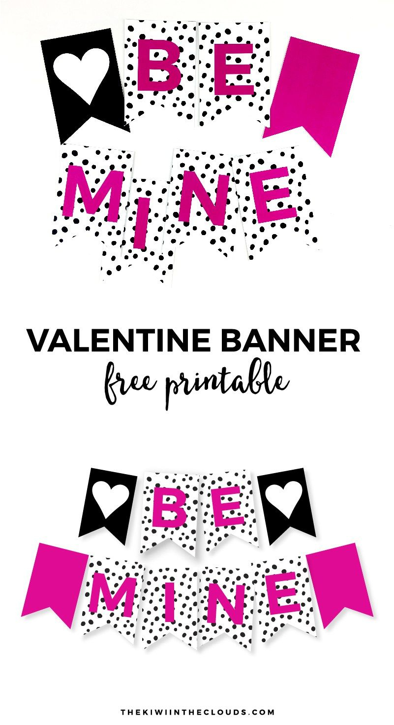 Free Printable Valentine Banner | Simple Everyday Mom | Printable - Free Printable Valentine Decorations