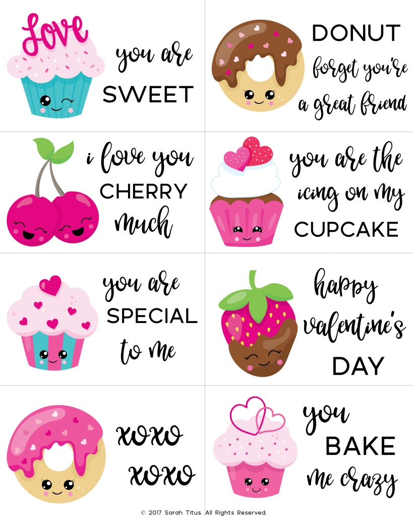 Free Printable Valentine Cards For Kids - Sarah Titus - Free Printable Childrens Valentines Day Cards