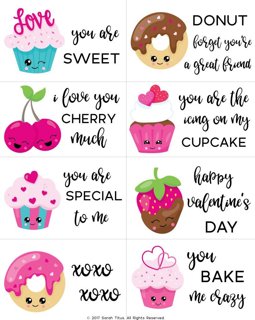 Free Printable Valentine Cards For Kids - Sarah Titus - Valentine Free Printable Cards
