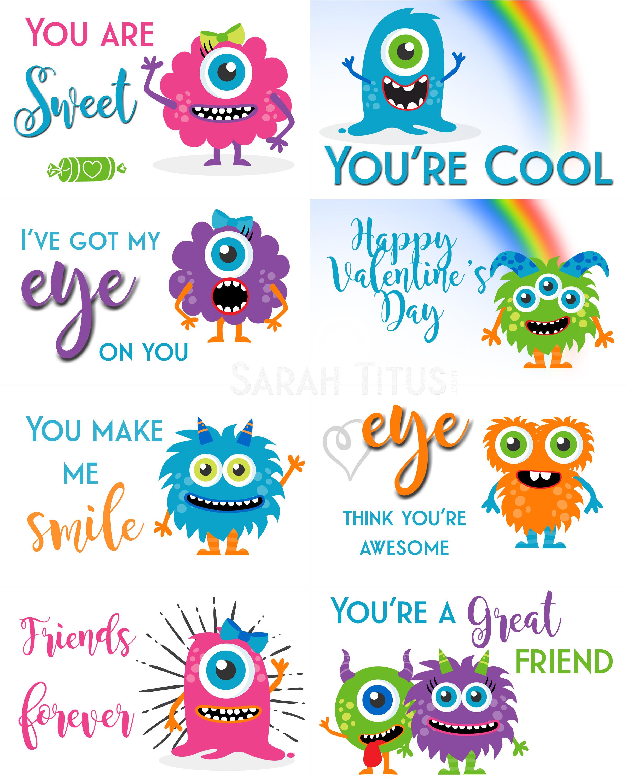 Free Printable Valentine Cards - Sarah Titus - Valentine Free Printable Cards