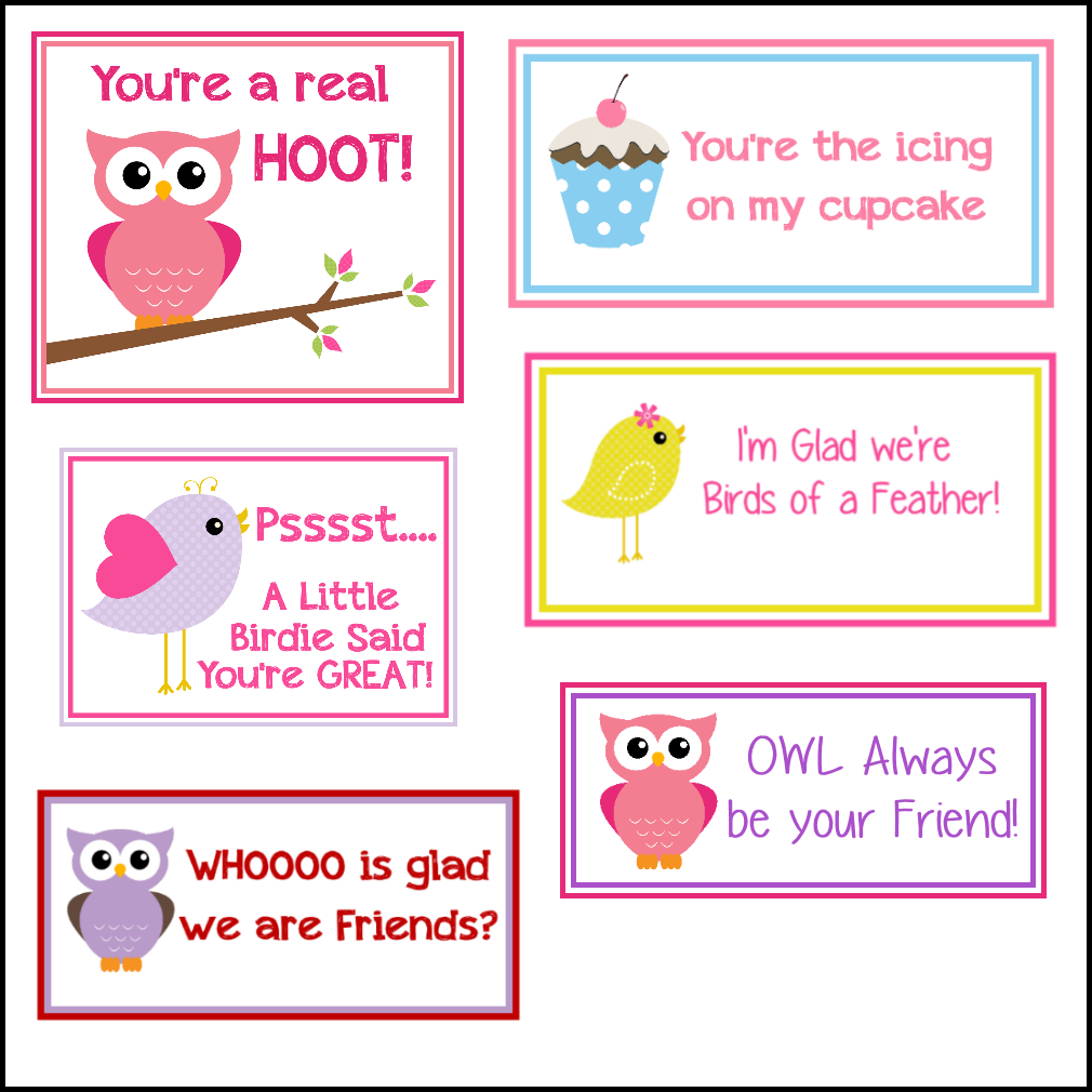 Free Printable Valentine's Cards (A Lot Of Them   Diy-Owl Printabes - Valentine Free Printable Cards