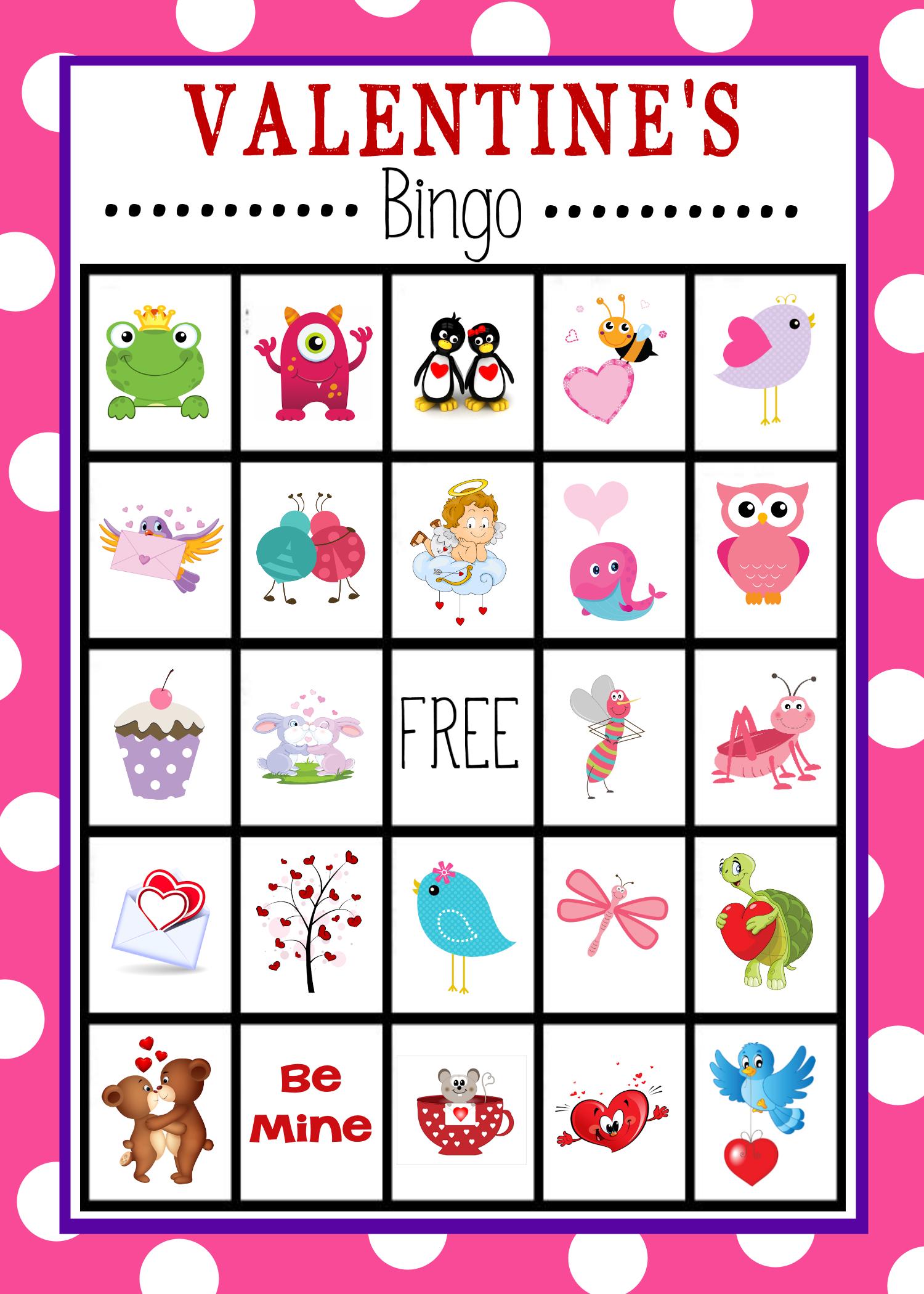 Free Printable Valentine's Day Bingo Game | Valentine's Day - Free Printable Valentines Bingo