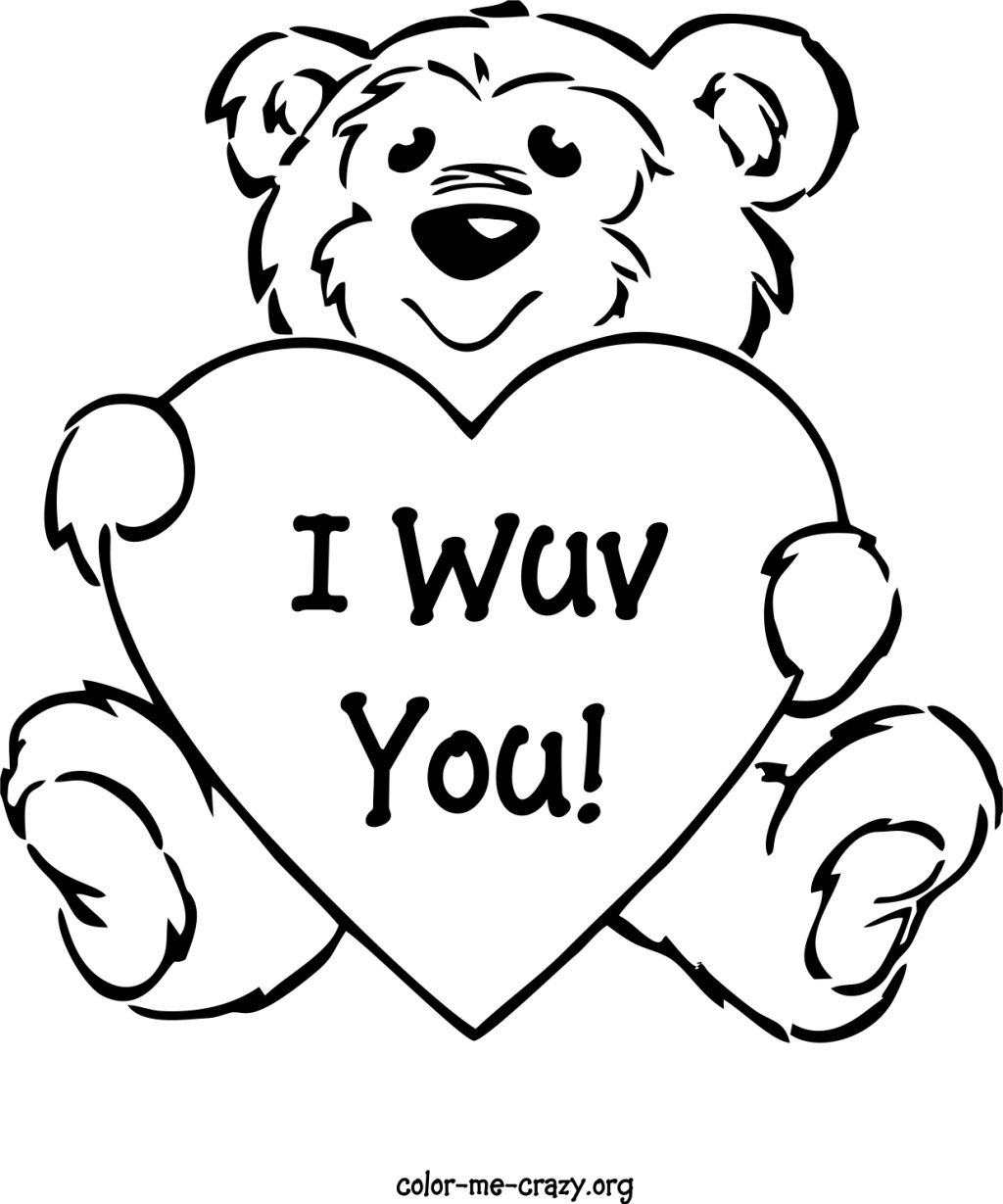 Free Printable Valentines Day Card Coloring Pages Valentine For - Free Printable Disney Valentine Coloring Pages