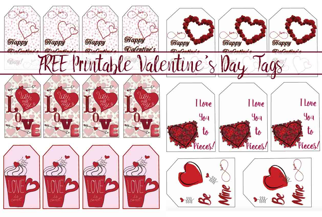 Free Printable Valentine's Day Gift Tags: Multiple Designs & Sizes - Free Printable Heart Labels