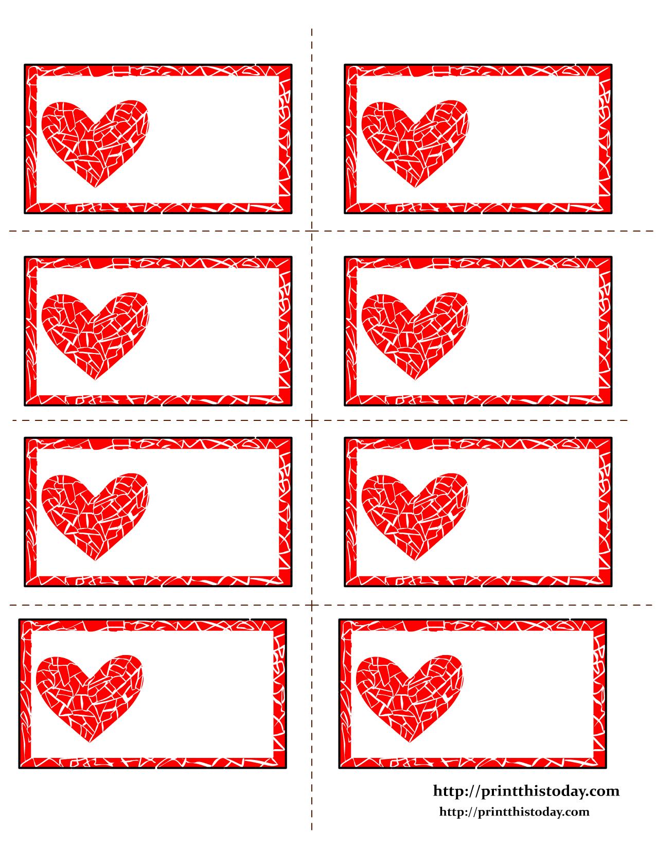 Free Printable Valentines Day Labelsann | Diyuradi Sam - Free Printable Heart Labels