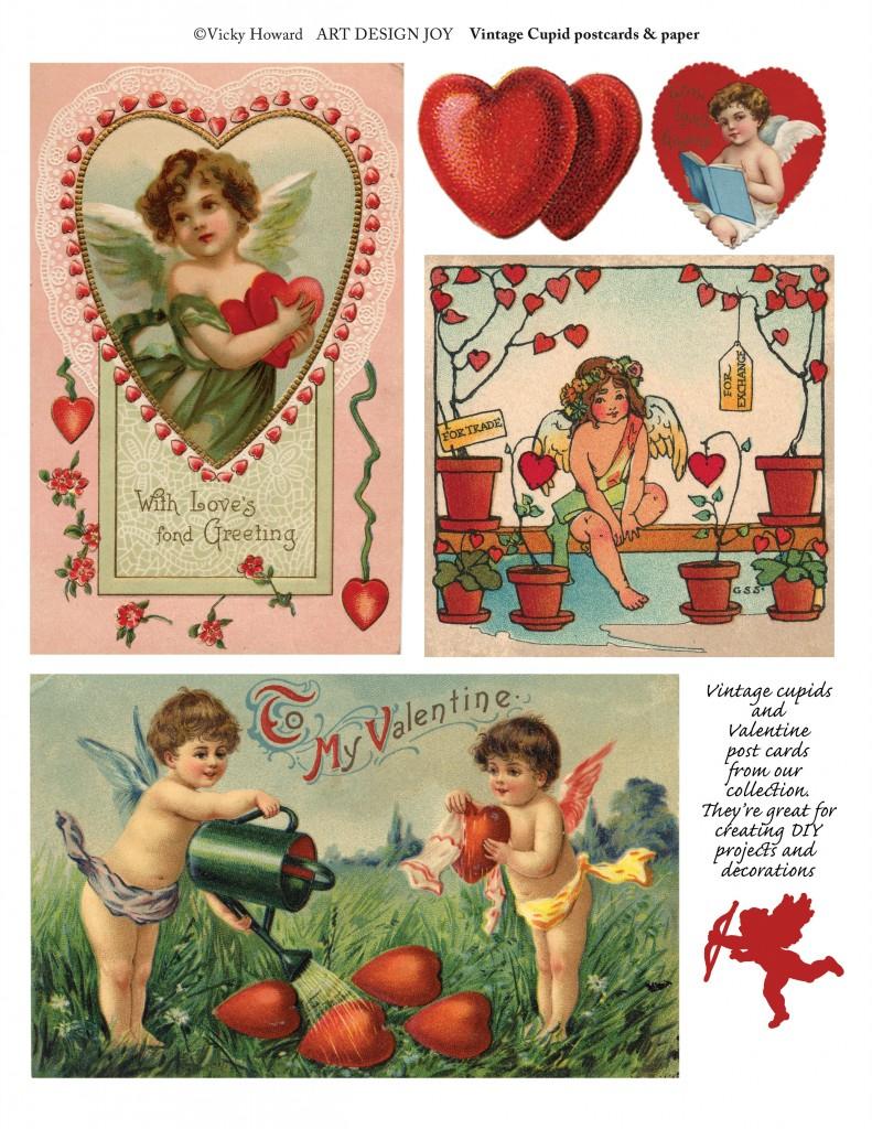 Free Printable Vintage And New Valentine Art - Art Design Joy - Free Printable Vintage Valentine Pictures