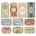 Free Printable Vintage Labels For Jars And Canisters To Organize   Free Printable Vintage Labels