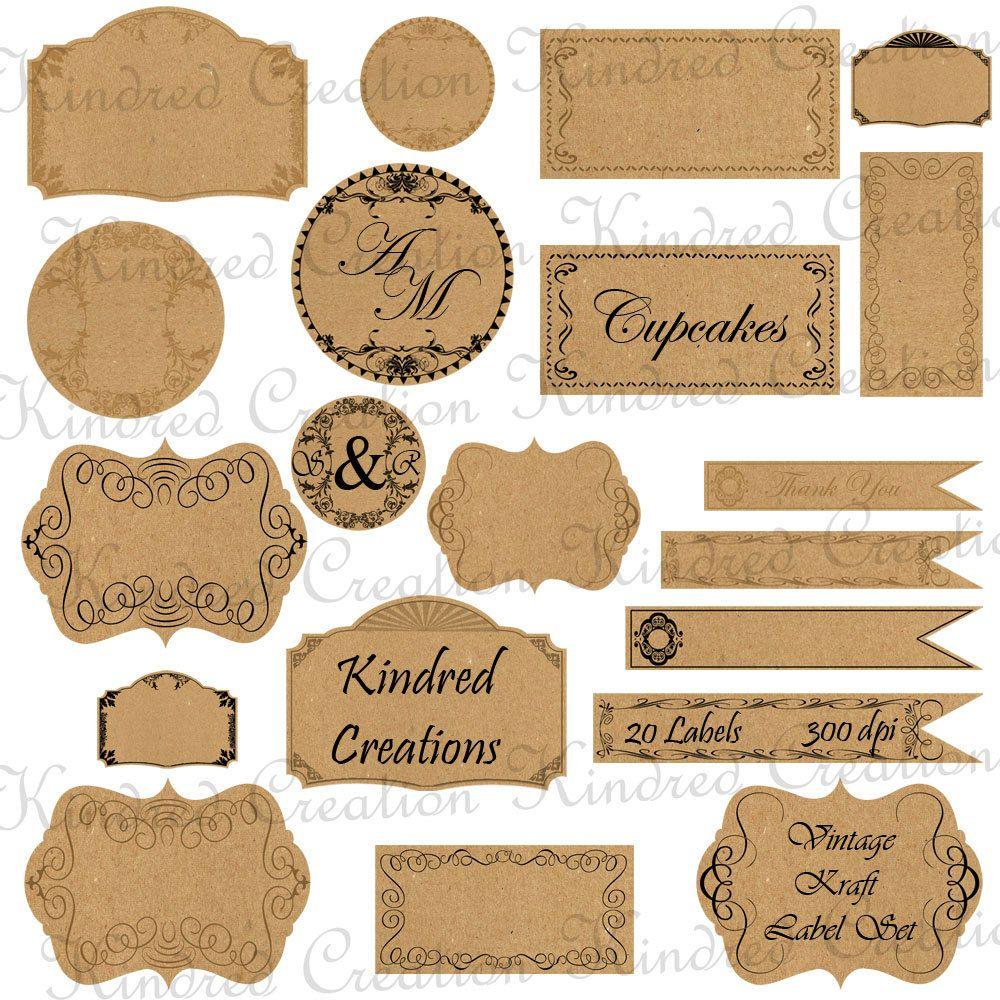 Free Printable Vintage Paper Label Tags | Halloween | Price Labels - Free Printable Price Labels