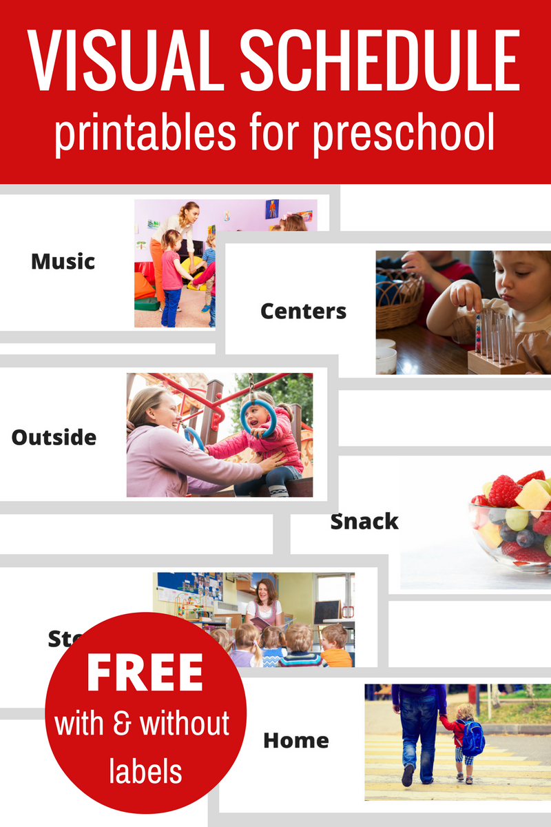 Free Printable Visual Schedule For Preschool - No Time For Flash Cards - Free Printable Picture Schedule For Preschool