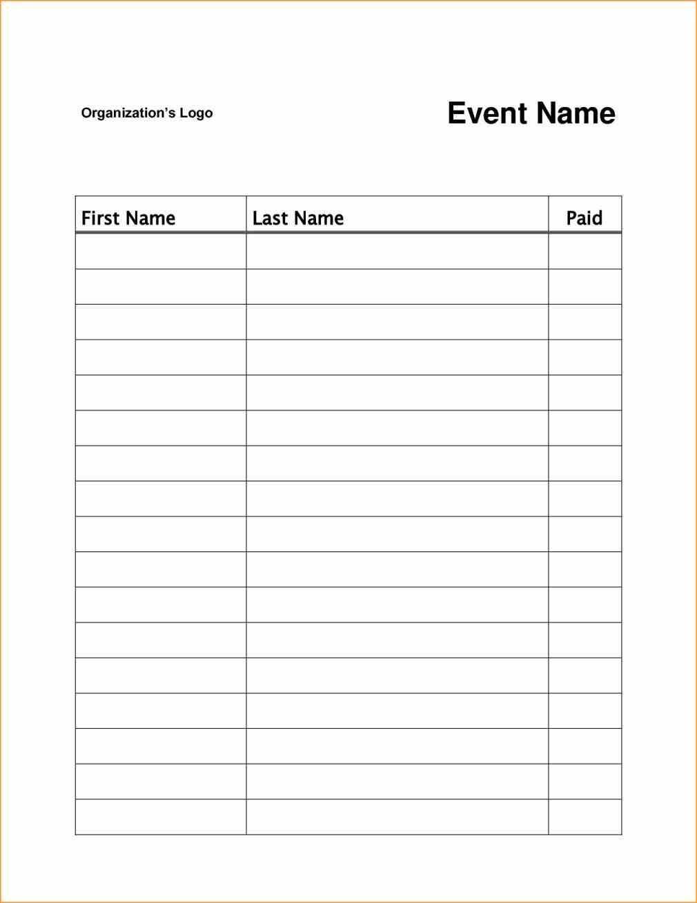 Free Printable Volunteer Sign Up Sheet Pdf From Vertex42 Regarding - Free Printable Volunteer Forms