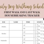 Free Printable Walking The Dog Log – How To Set A Schedule And – Free Printable Walking Log