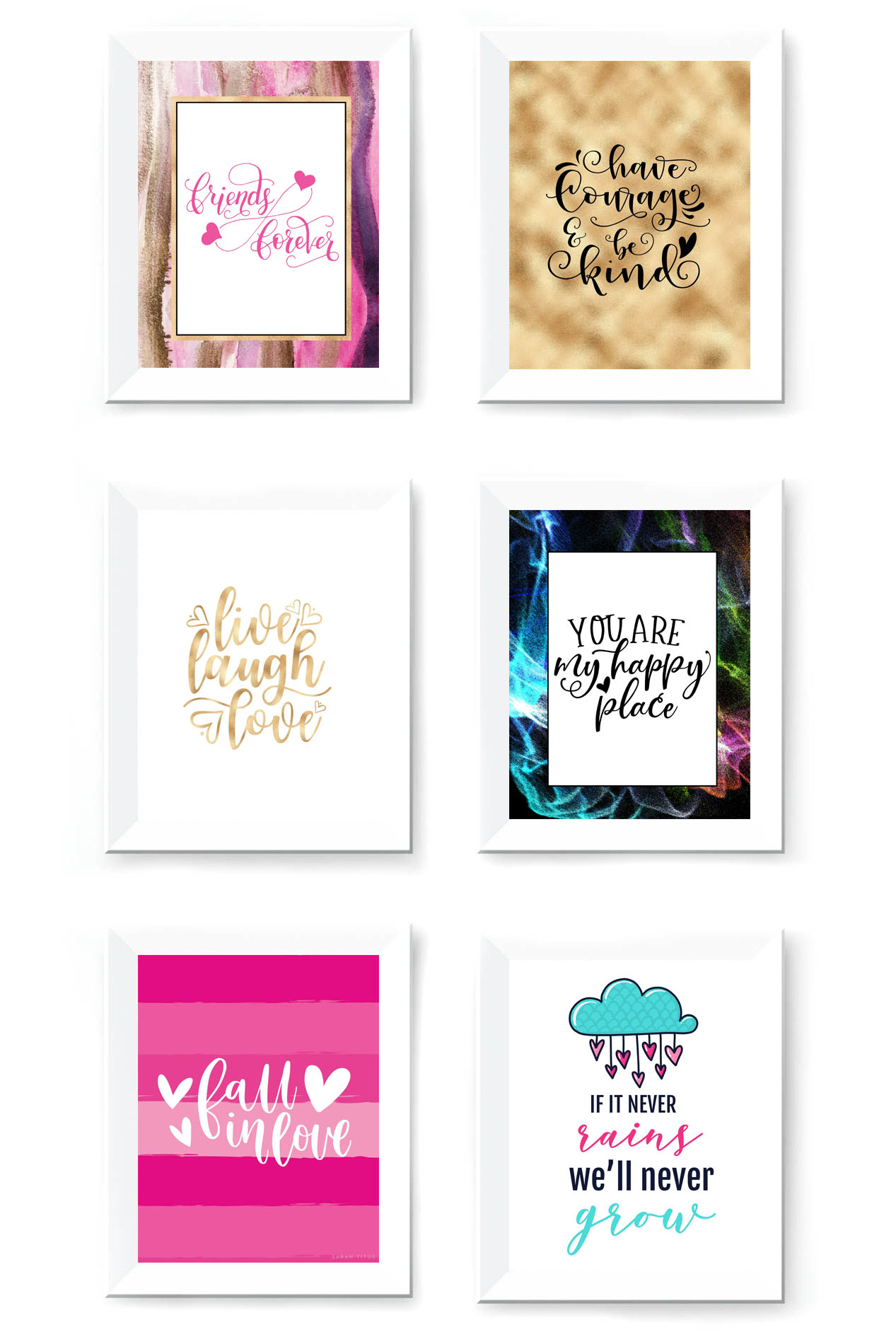 Free Printable Wall Art To Download Now - Sarah Titus - Free Printable Wall Art