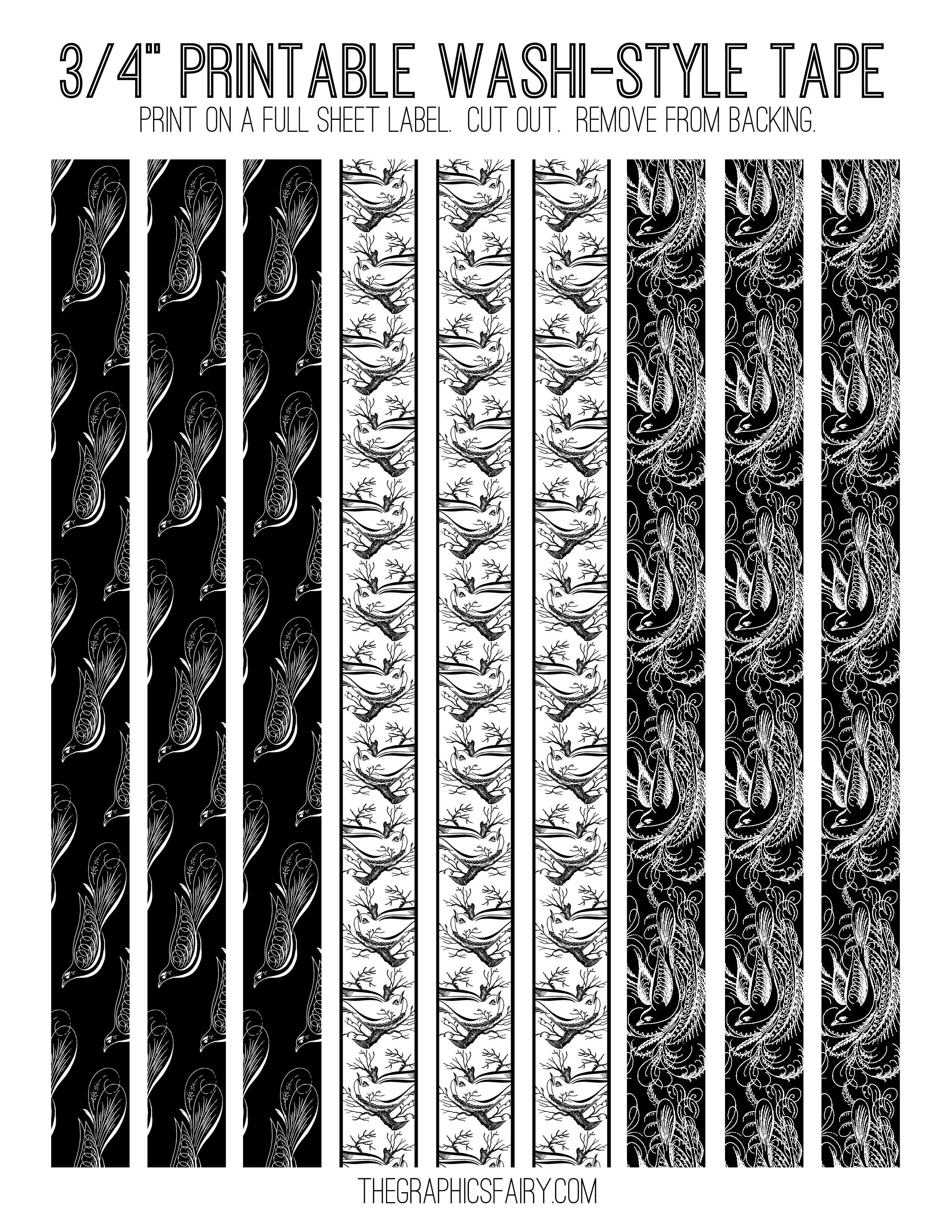 Free Printable Washi Tape - Free Printable Washi Tape