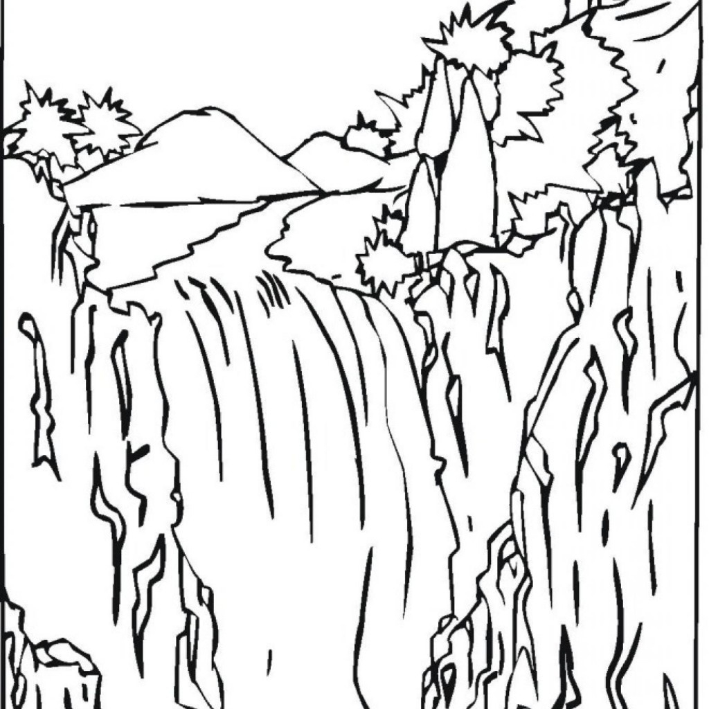 Free Printable Waterfall Coloring Pages | Free Printable - Free Printable Waterfall Coloring Pages