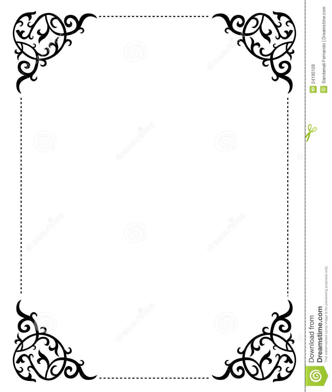 Free Printable Wedding Clip Art Borders And Backgrounds Invitation - Free Printable Halloween Stationery Borders
