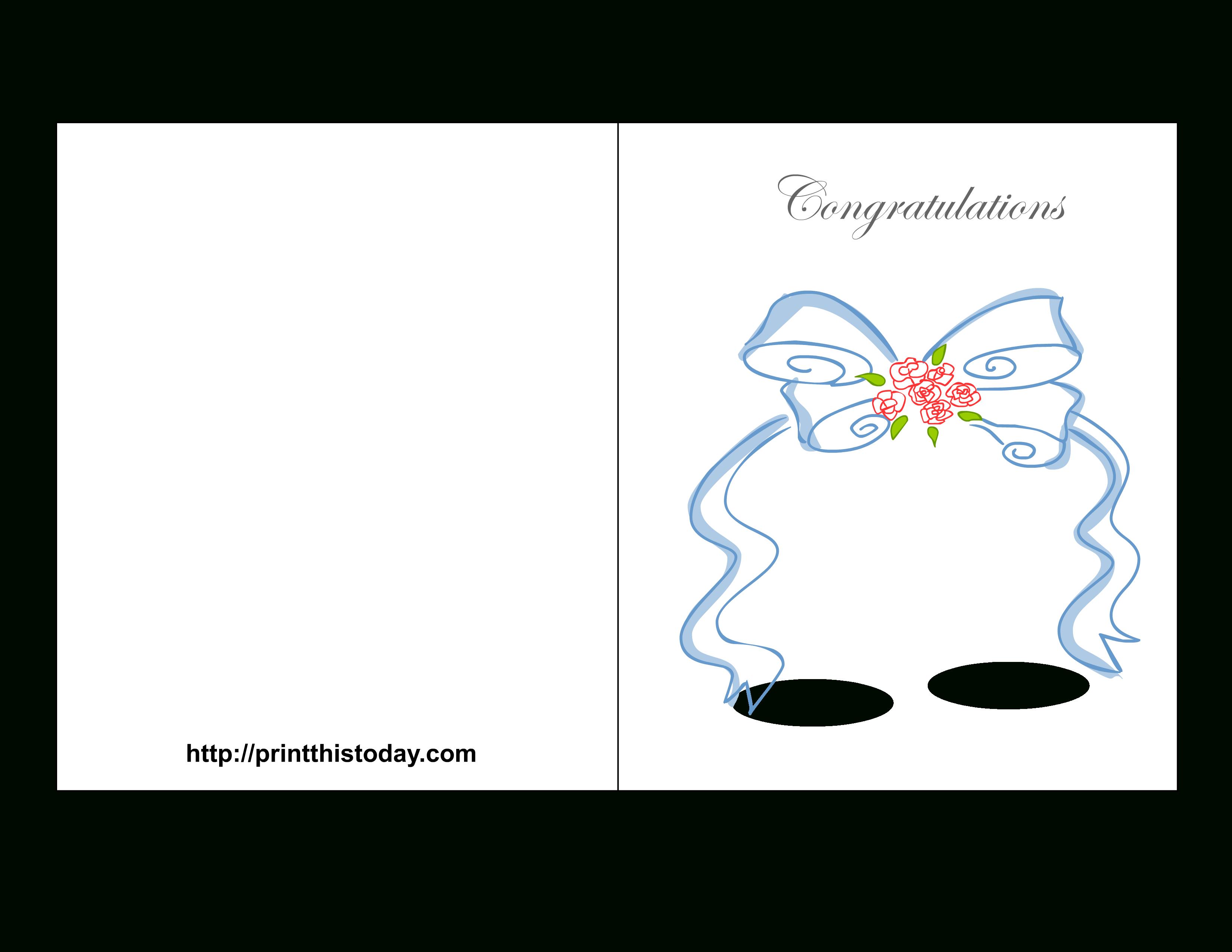 Free Printable Wedding Congratulations Cards - Free Printable Congratulations Baby Cards