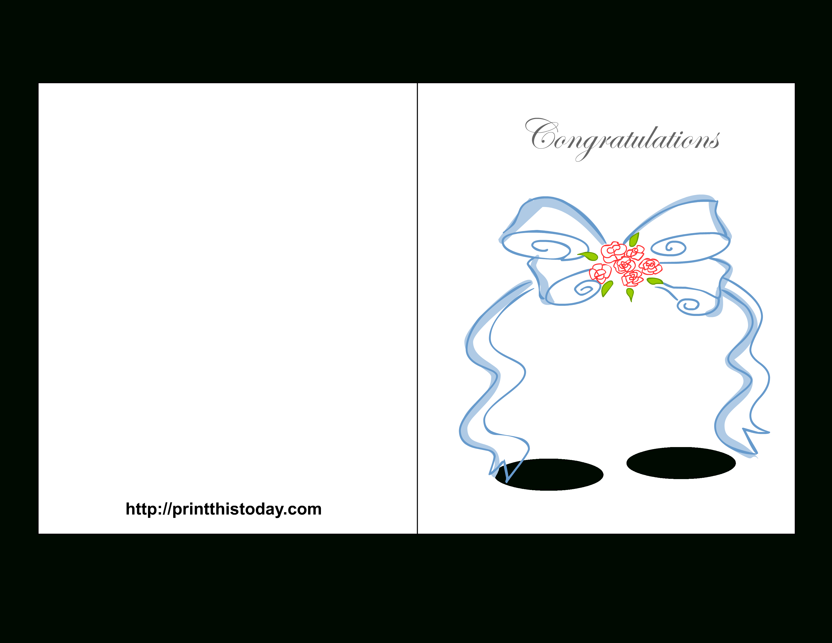 Free Printable Wedding Congratulations Cards - Free Printable Congratulations Cards